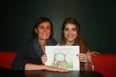 Nurse Norma Grau and illustrator Cristina Serrat