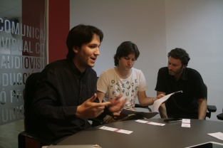 ONIDEA guys brainstorming on Teo the Duckling animation